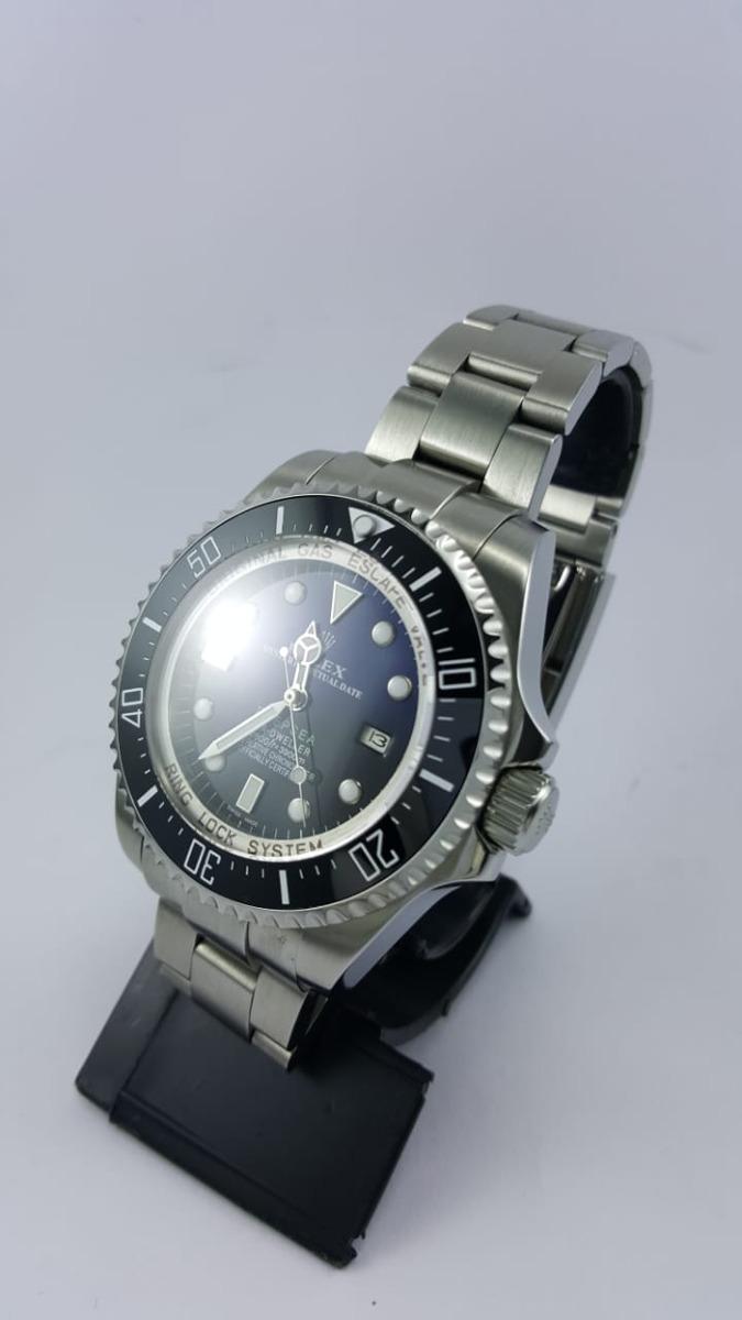 ab04af44420 relógio rolex deepsea azul misto. Carregando zoom.