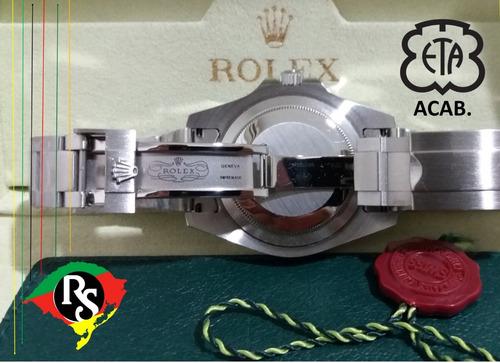 relógio rolex explorer ii 44mm preto aço safira automático