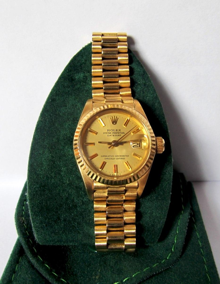 ad2320768ed relógio rolex feminino ouro 18k puls. presidente automático. Carregando  zoom.