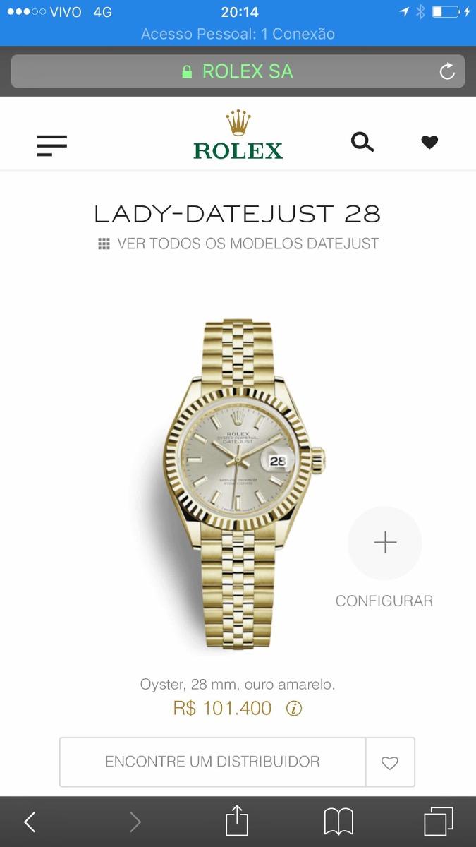 2ae4ca0f23e Relógio Rolex Lady Date-just Original - Joias De Grife - R  37.000 ...