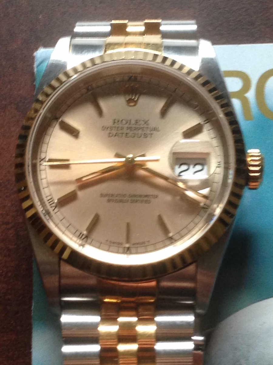 e04ffd9804d Relógio Rolex Oyster Perpetual Datejust Aço Ouro - R  18.900