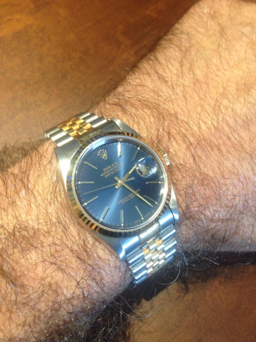 a813bf8e200 relógio rolex oyster perpetual datejust blue ouro original. Carregando zoom.