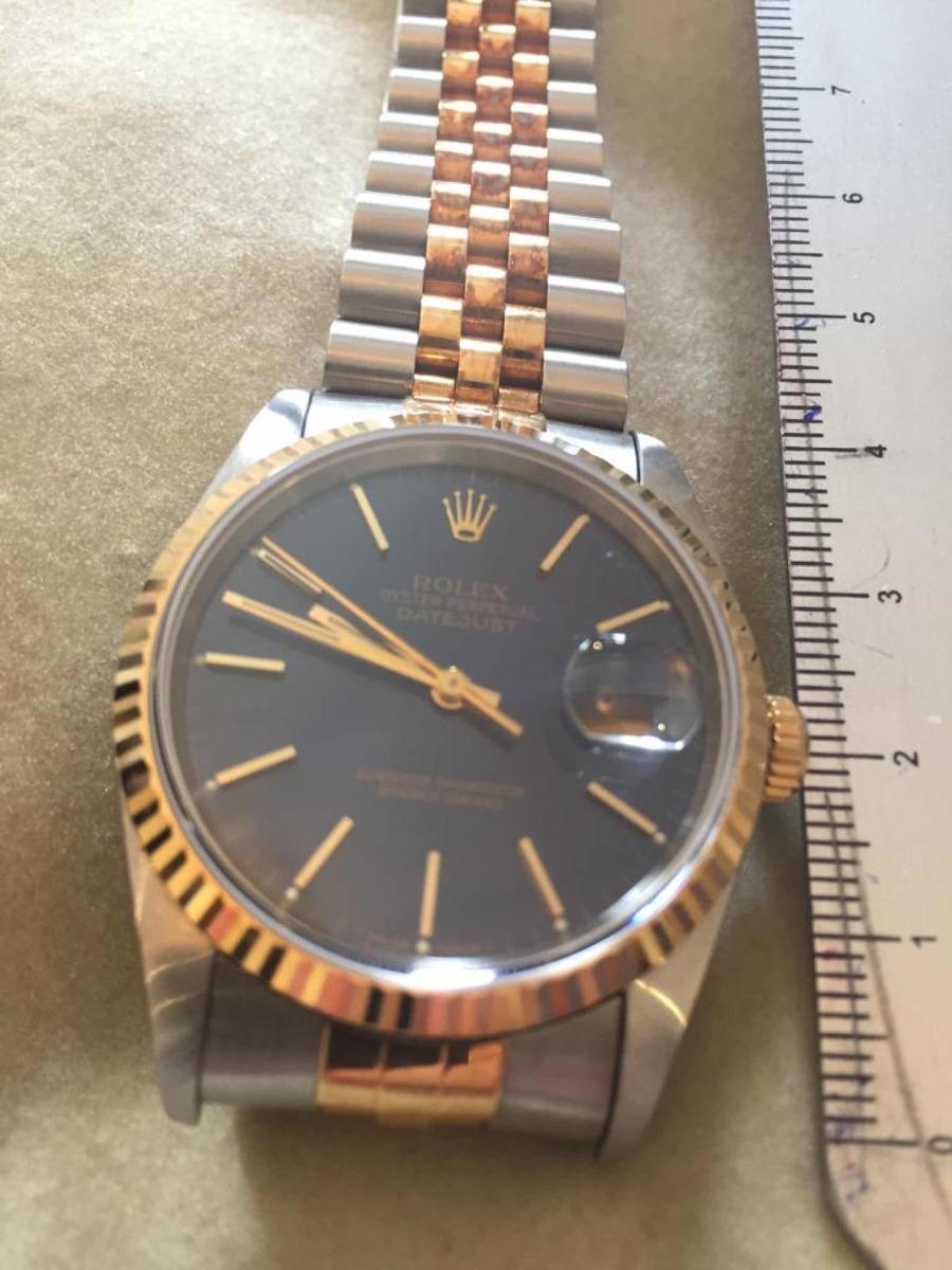 7e8554d998a Relógio Rolex Oyster Perpetual Datejust Blue Ouro Original - R ...