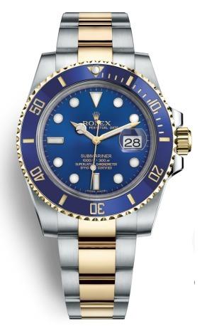 47c39438bb6 Relógio Rolex Prata C  Azul E Dourado - A Pronta Entrega - R  509