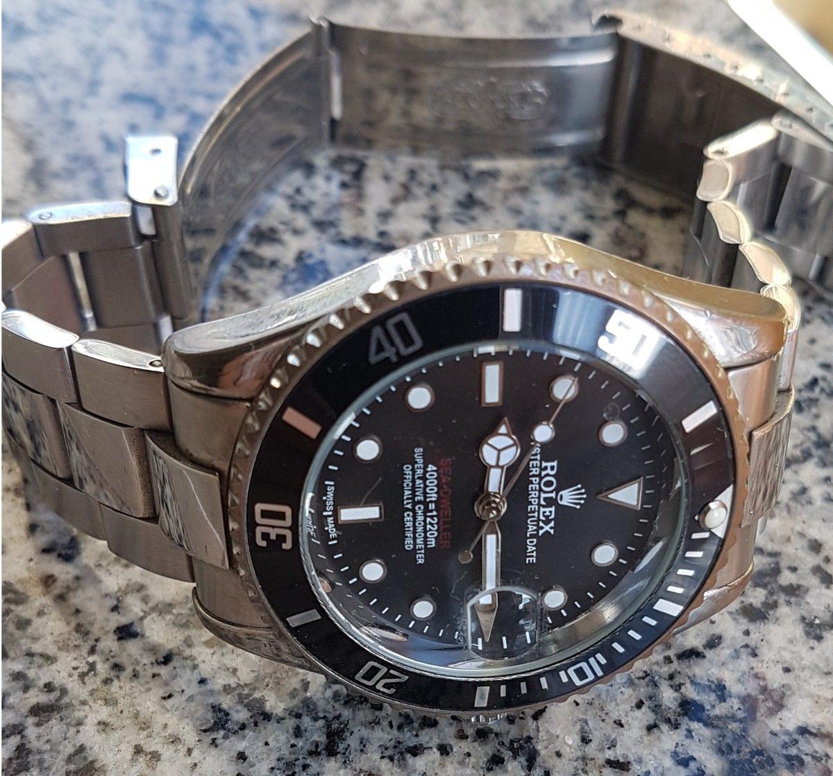 3af083af444 relógio rolex quartz. Carregando zoom.