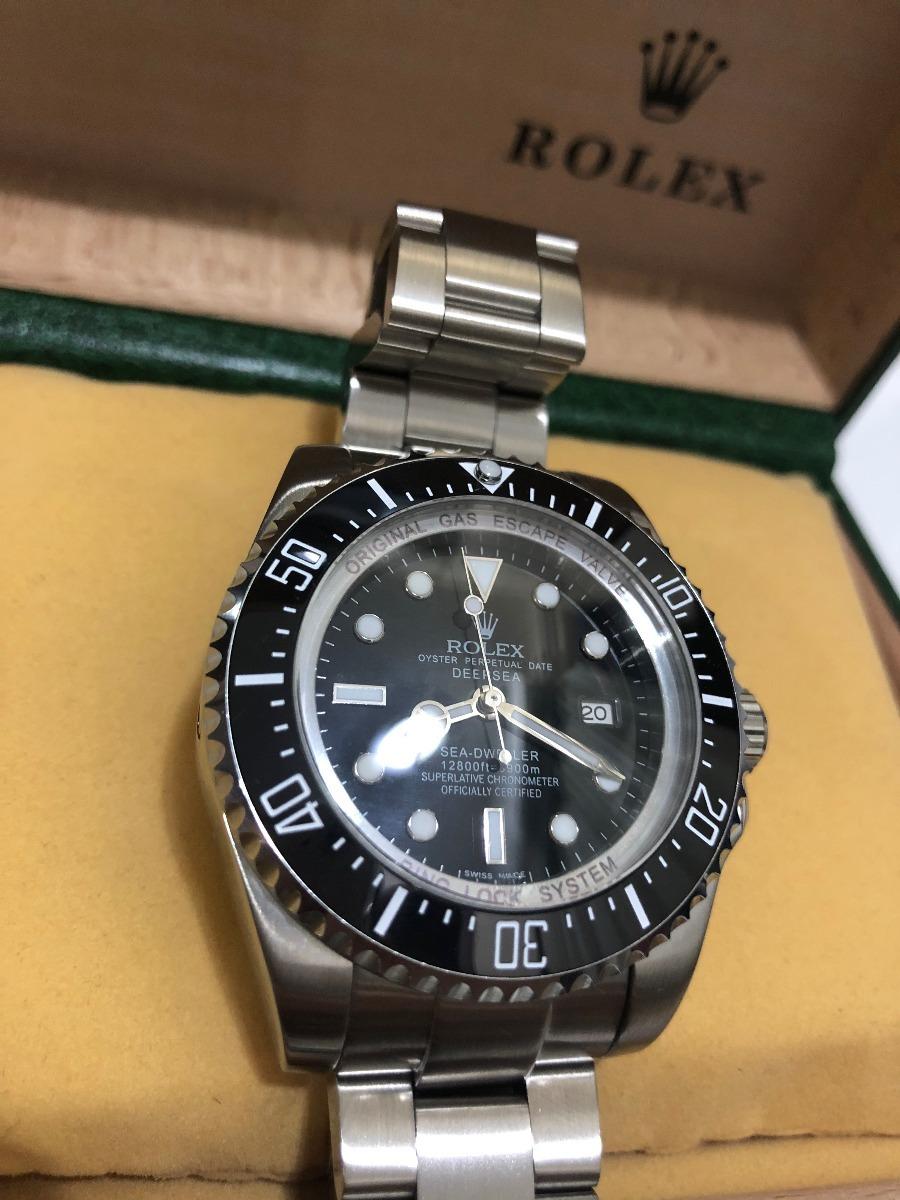 e41e87883ff relógio rolex sea dweller deep sea automático preto. Carregando zoom.