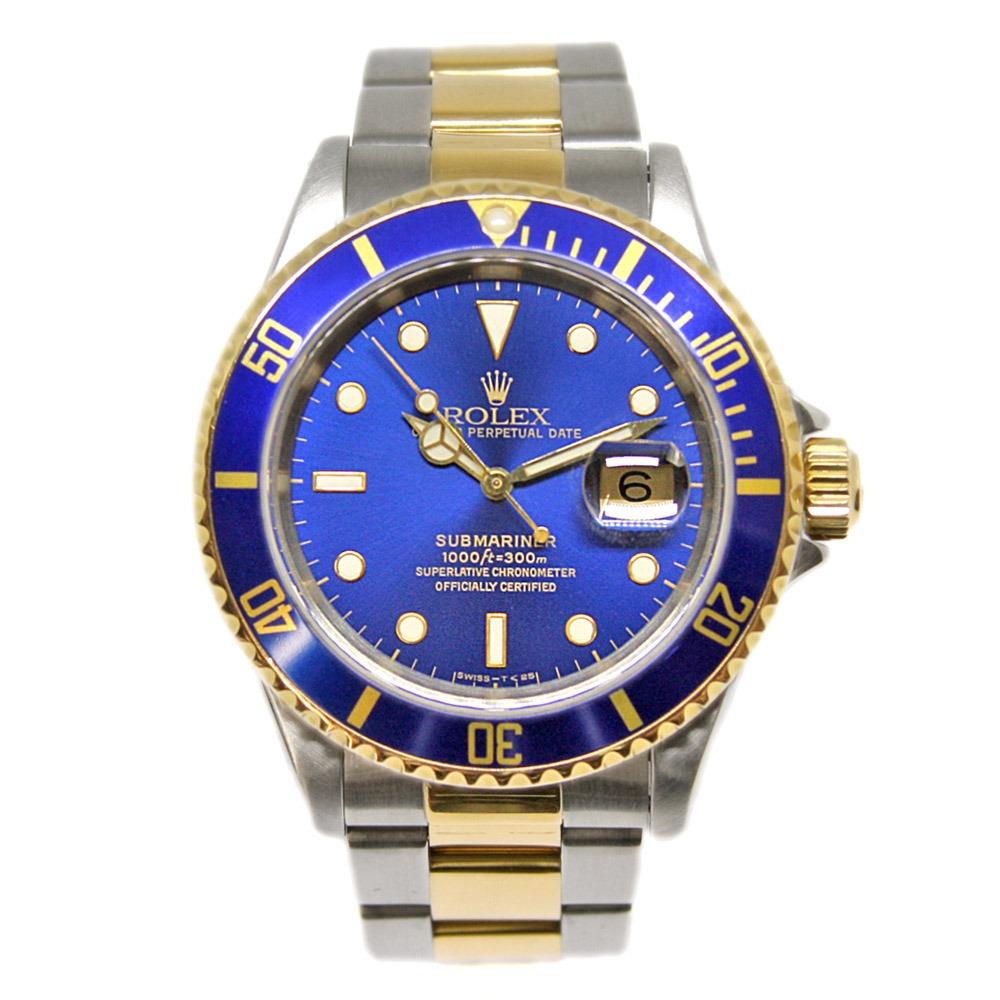 f25074afcde relógio rolex submariner date - blue gold. Carregando zoom.