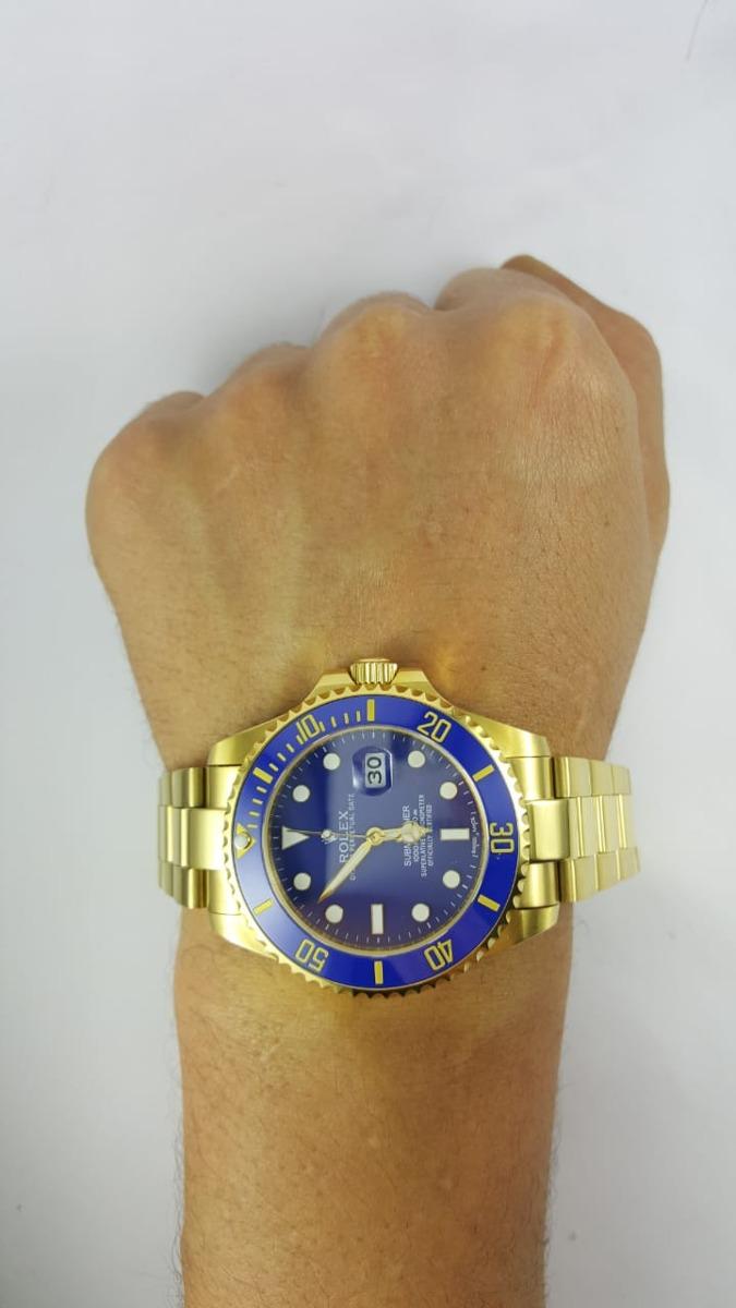 e2de7f9989c relógio rolex submariner dourado com azul. Carregando zoom.