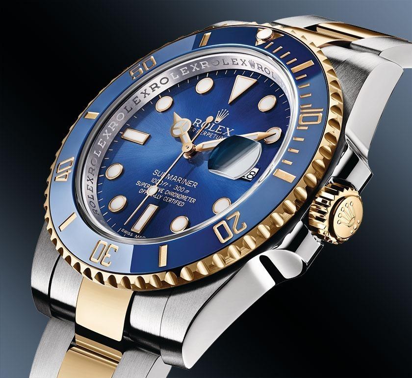 f3a3750b186 relógio rolex submariner gold and blue automático mecânico. Carregando zoom.