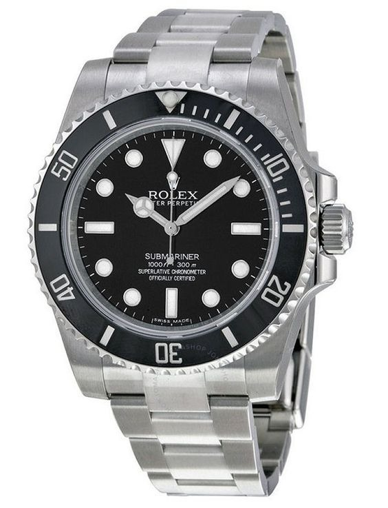 011541bd160 Relógio Rolex Submariner Prata C  Preto - A Pronta Entrega - R  509 ...