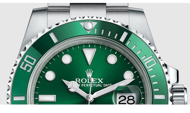 bf6354762f1 Relógio Rolex Submariner Prata C  Verde - R  509