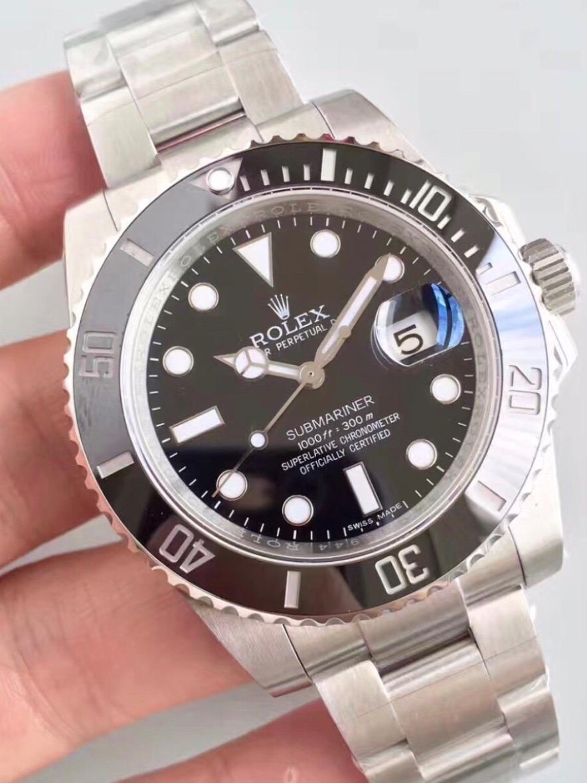 3063a1d00a2 relógio rolex submariner preto 40mm masculino - importado. Carregando zoom.