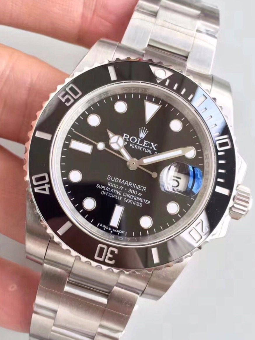 1747f5242b8 relógio rolex submariner preto 40mm masculino - importado. Carregando zoom.