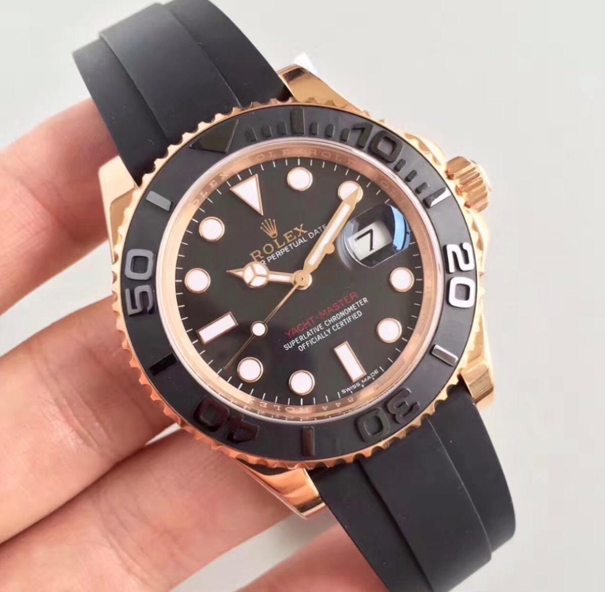 b925f15f7c6 relógio rolex yacht master oysterflex masculino importado. Carregando zoom.