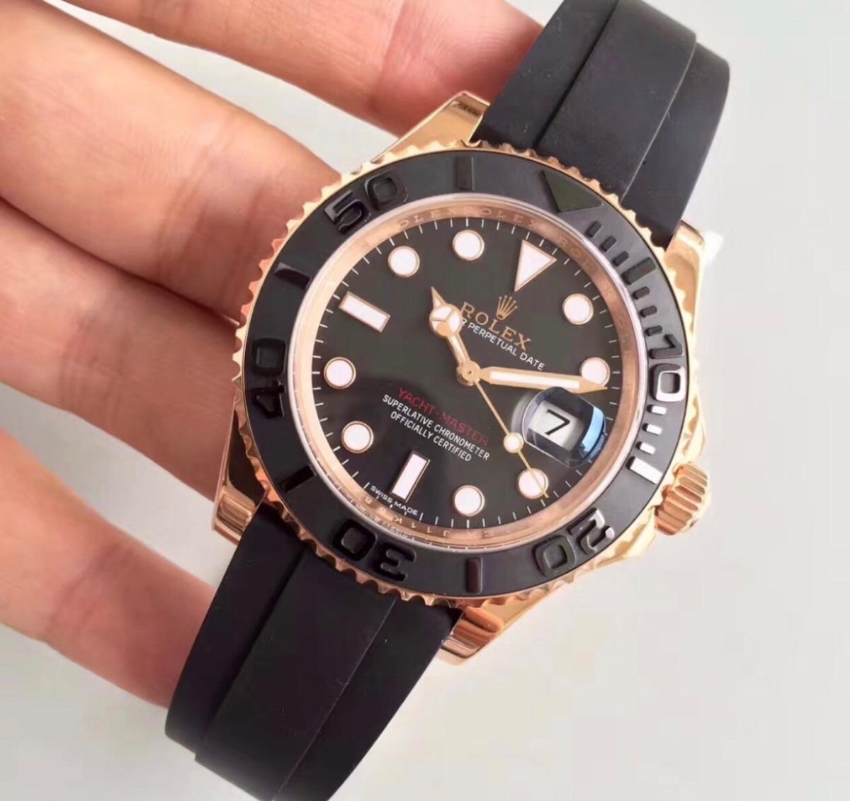 01ea45832f6 relógio rolex yacht master oysterflex masculino - importado. Carregando  zoom.