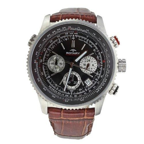 d5945ba7d Relogio Rotary Aviator Gs00100/04/brn Mens Watch (original) - R$ 529,00 em  Mercado Livre