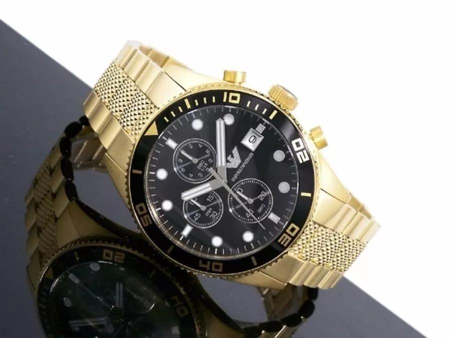 57a171d42f54b relógio rxx3200 dourado preto empório armani ar5857 c caixa. Carregando zoom .