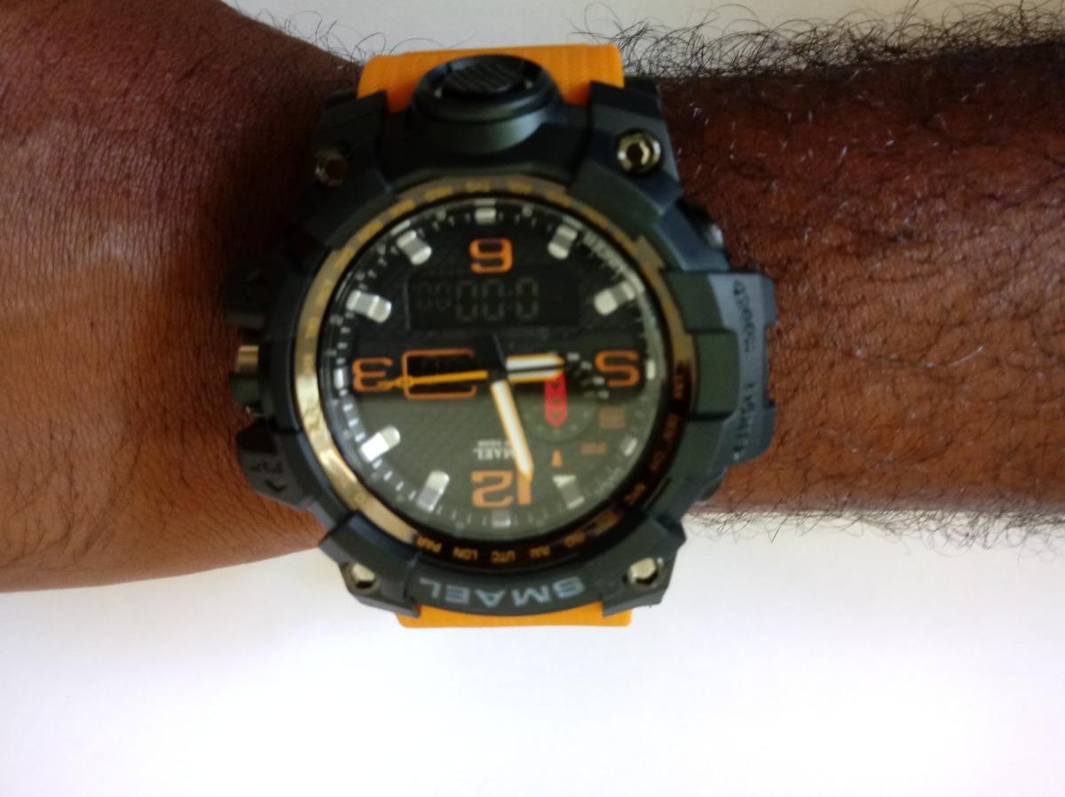 c880dd66629 Relógio S-shock Masculino Esportivo Smael Original 1545 - R  109