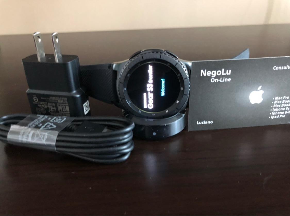 1da613e8b06 relogio samsung gear s3 frontier sm-r760 smartwatch s caixa. Carregando  zoom.