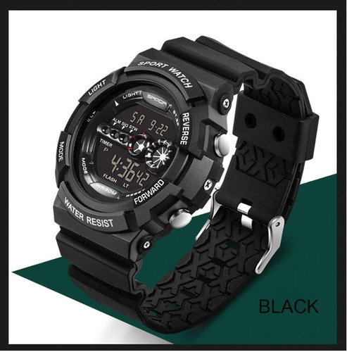 relógio sanda 320 5303 preto digital resistente água 30 m