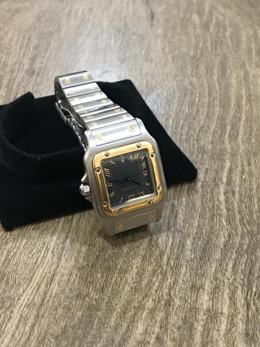 75d394a975b Relógio Santos Cartier Aço E Ouro 18k (case 29mml) - R  11.000