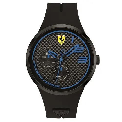relógio scuderia ferrari masculino borracha preta - 830395