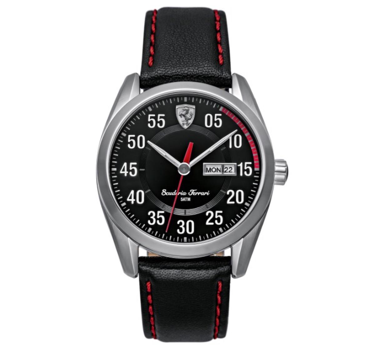 ef79ebe9d92 relógio scuderia ferrari masculino couro preto original. Carregando zoom.