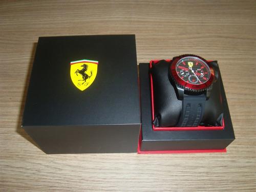 relógio scuderia ferrari - modelo 830310 (preto e vermelho)