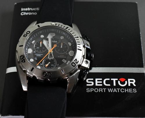 relógio sector 600 - titanium - crónografo - top