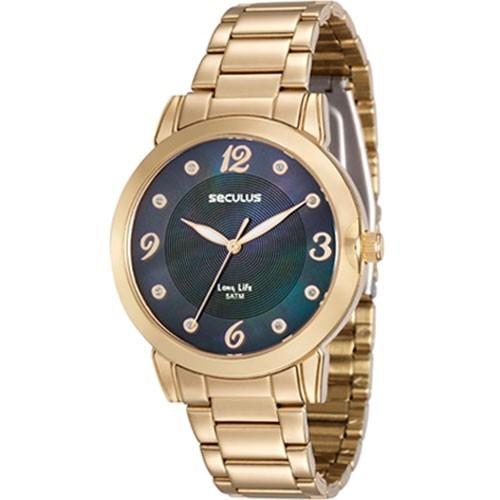 f78e146a03e Relógio Seculus Analógico Feminino Dourado 23553lpsvda2 - R  429
