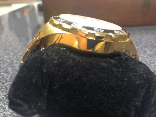 relógio seculus banhado a ouro original com caixa.