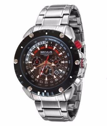 4d3df680ec3 Relógio Seculus Barato Cronometro Analogico Masculino - R  690