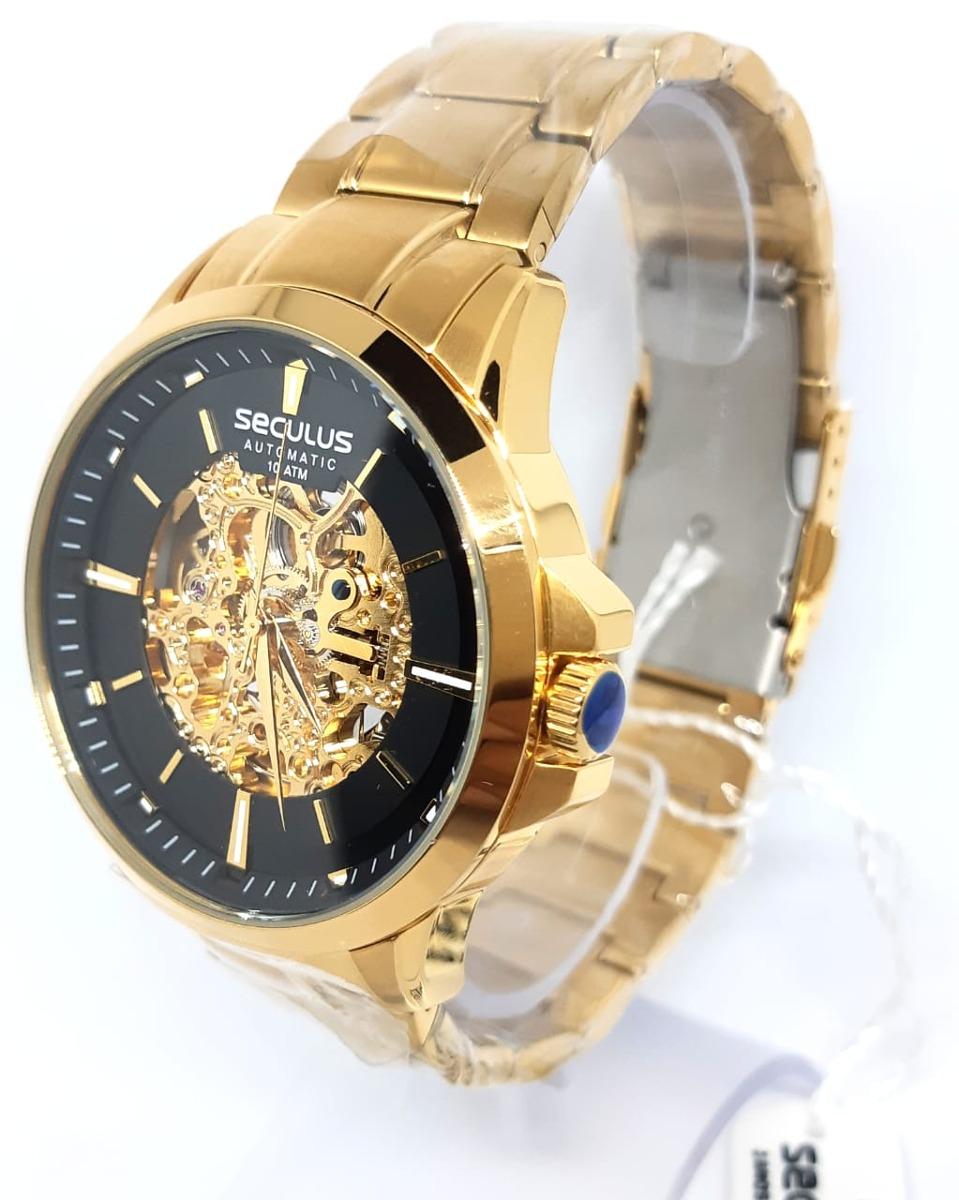 Relógio Seculus Esqueleto Automático 20552gpsvda1 - R  789,00 em ... 0b82ee7309