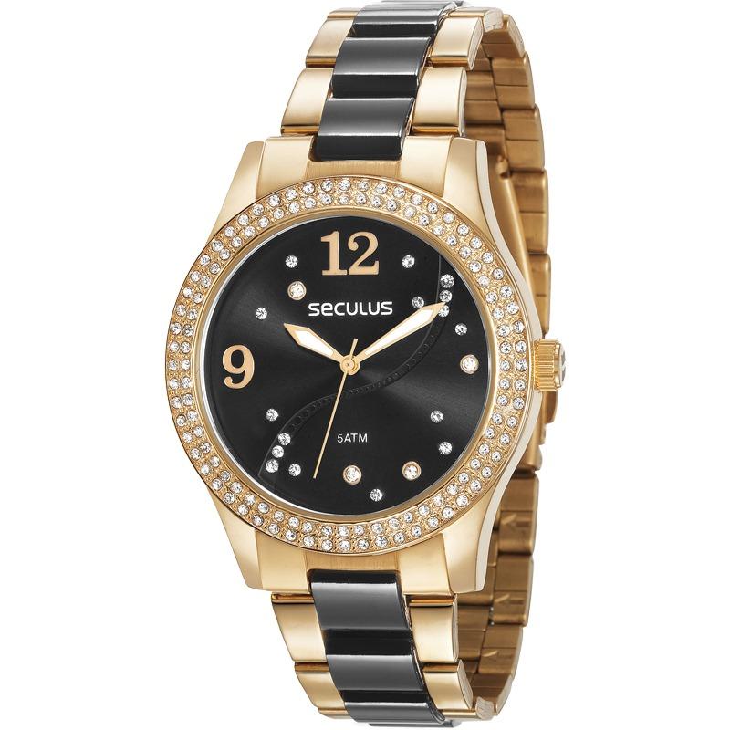 543512420a8 Relógio Seculus Feminino 77015lpsvds1 - R  295