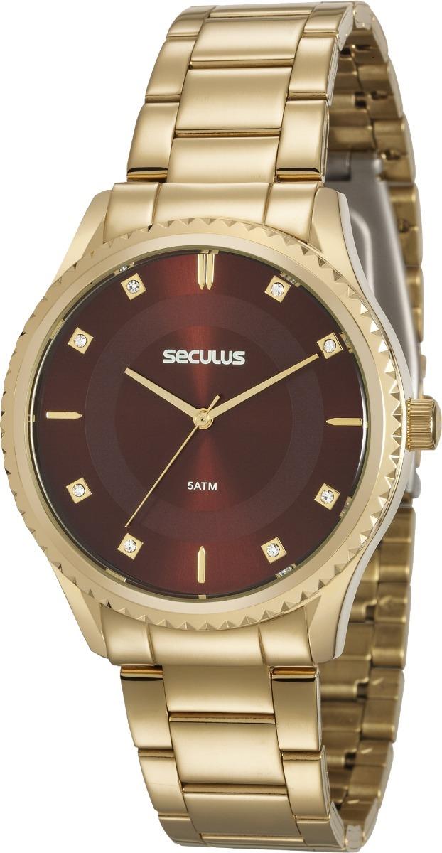 004937091b9 relógio seculus feminino dourado 20570lpsvds1. Carregando zoom.