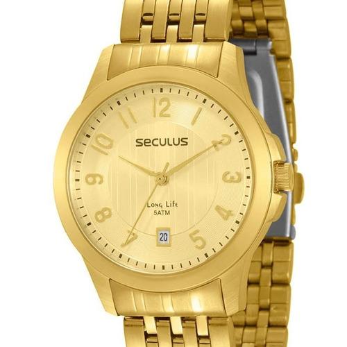 relógio seculus feminino long life - 20168lpsvda1