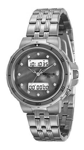 relógio seculus feminino rosé digital 20532lpsvra2
