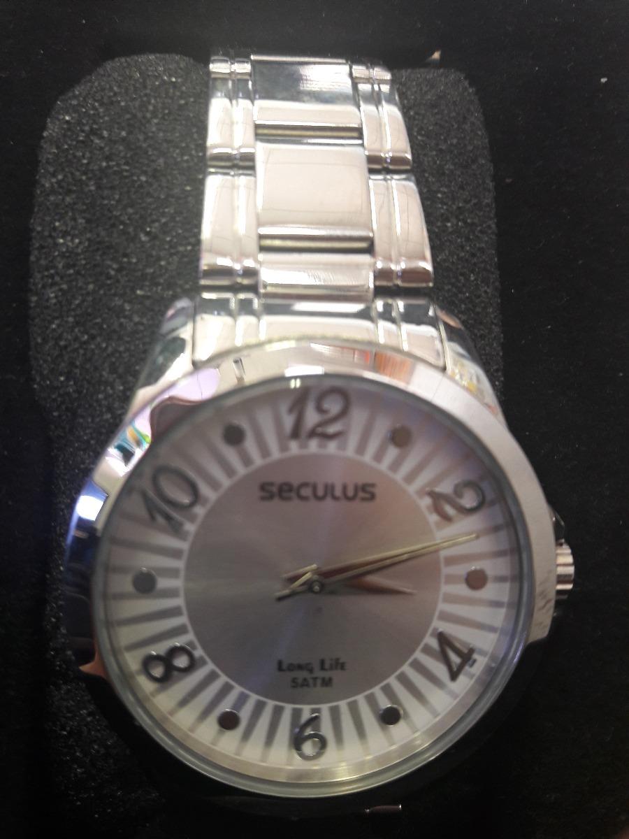 1ec762464a6 Relógio Seculus Long Life 5atm Feminino - R  159