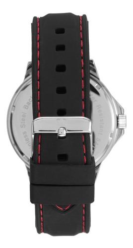 relógio seculus masculino analógico preto + garantia + nf