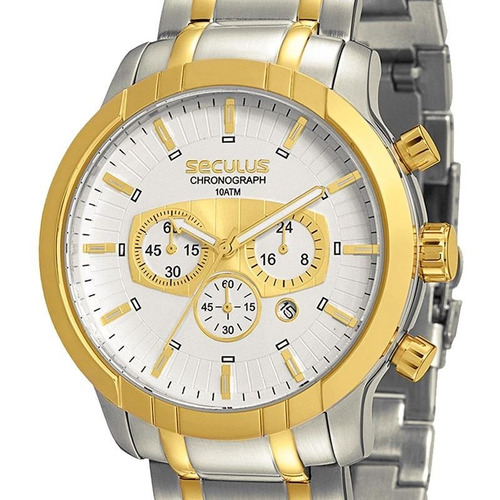 relógio seculus masculino chronograph - 20084gpsgba1