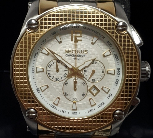 relógio seculus masculino cronógrafo