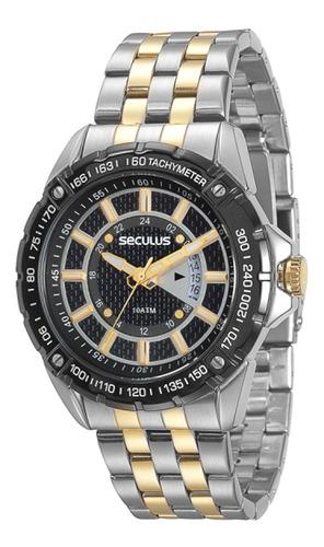 relógio seculus masculino moderno 20228gpsvba1.