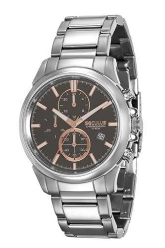 relógio seculus masculino prata 13023g0svna3