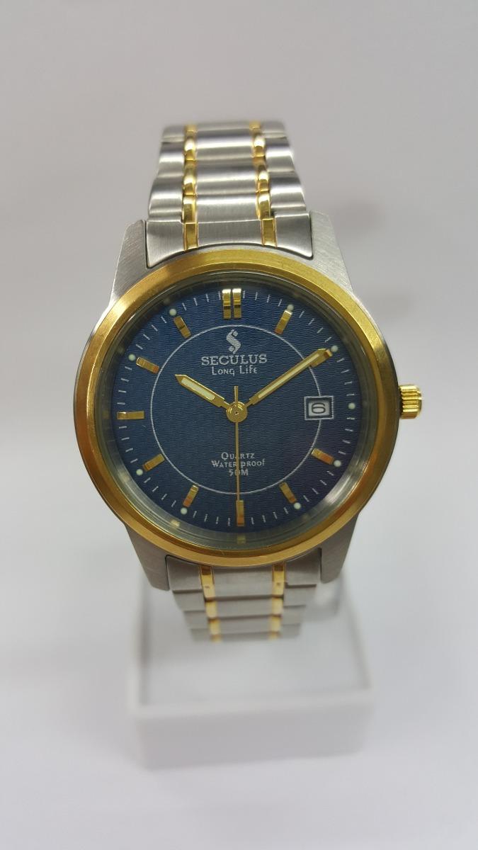 9756a497c41 Relógio Seculus Misto A Prova D´água 50 Metros Ref  23144g3a - R ...