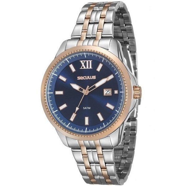 c708c5a6229 Relógio Seculus Unissex Bicolor 20477lpsvgs1 Original - R  229