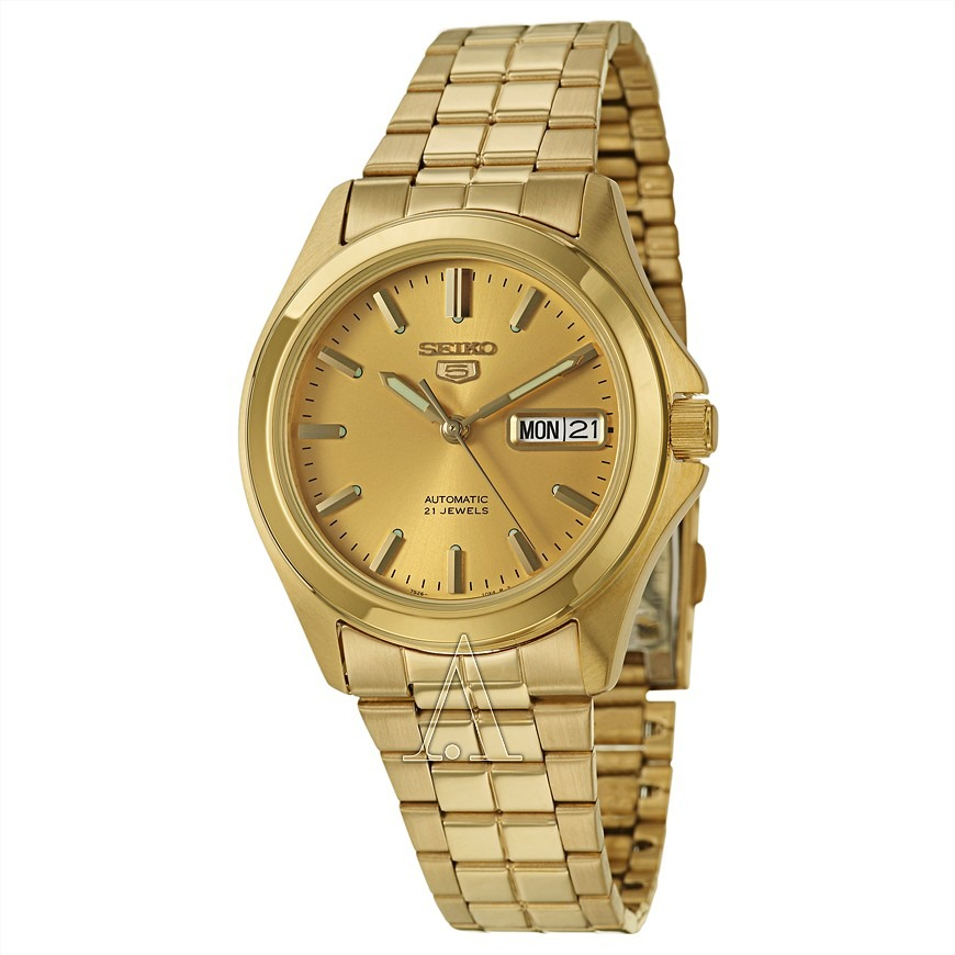 50e5f985735 Relógio Seiko 5 Masculino Automático Snkk98 Dourado - R  748