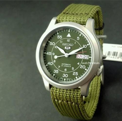 relógio seiko 5 militar automático snk805k2 pronta entrega