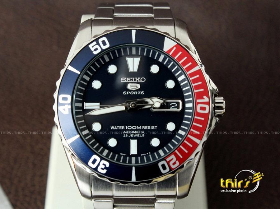 548d04ce8f0 Relógio Seiko 5 Sport Snzf15 K1 Automatico 23 Jls Original - R ...