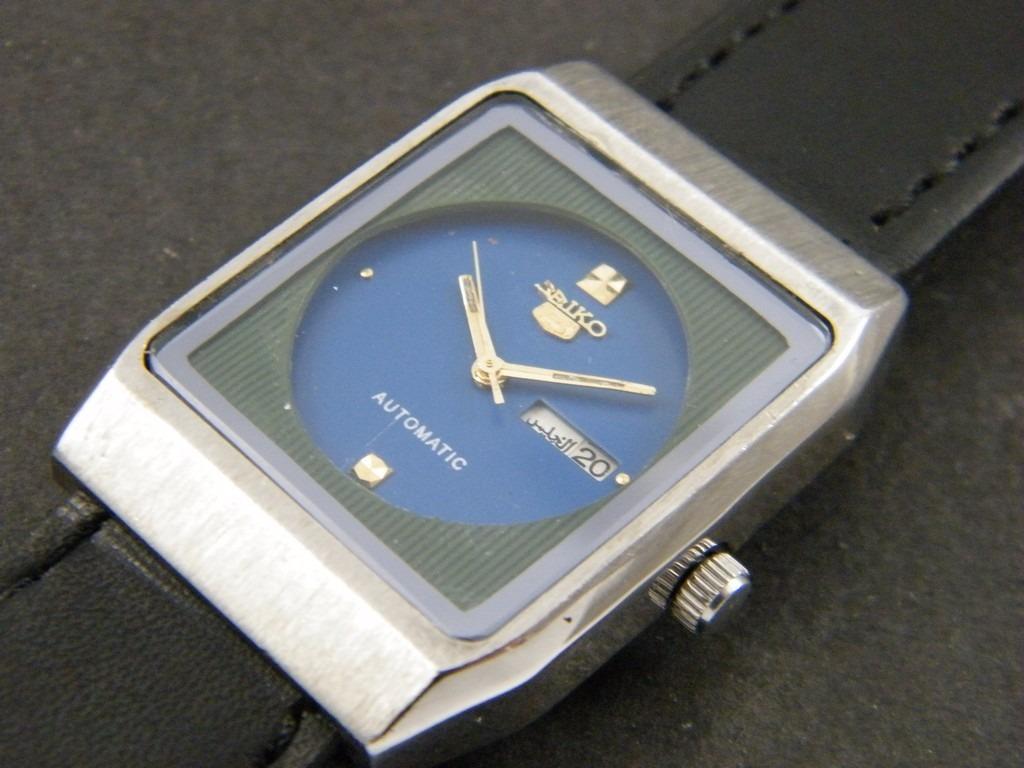 9be7baec44f relógio seiko automático japonês antigo azul - unisex. Carregando zoom.