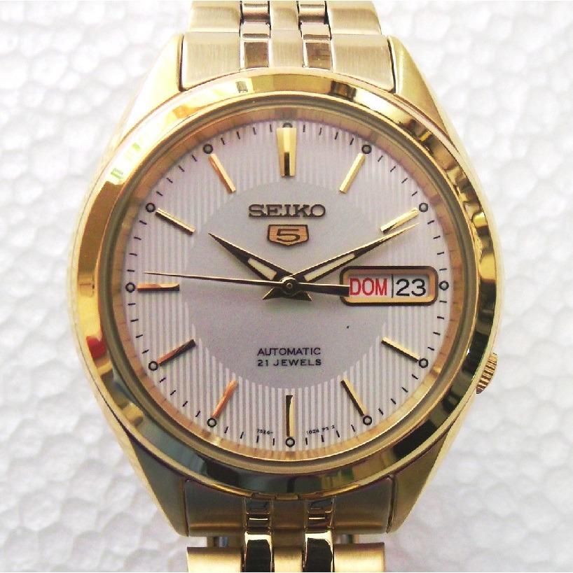 c913533e83c relógio seiko automático masculino folhado a ouro snkl26k1. Carregando zoom.